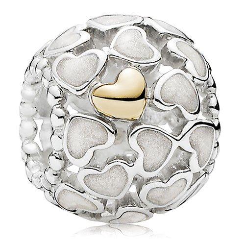 $65 PANDORA Abundance of Love with 14K and Silver Enamel Charm