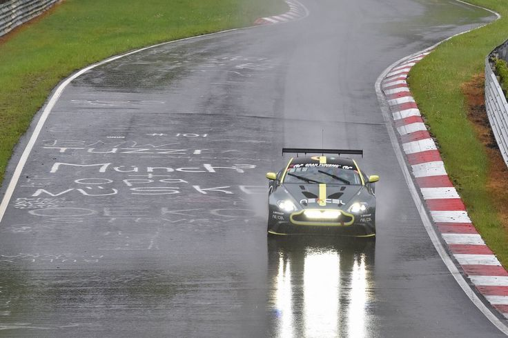 Let's hope the weather is better for this weekends @nuerburgring #N24h when the @astonmartin Vantage GT8 contests the SP8