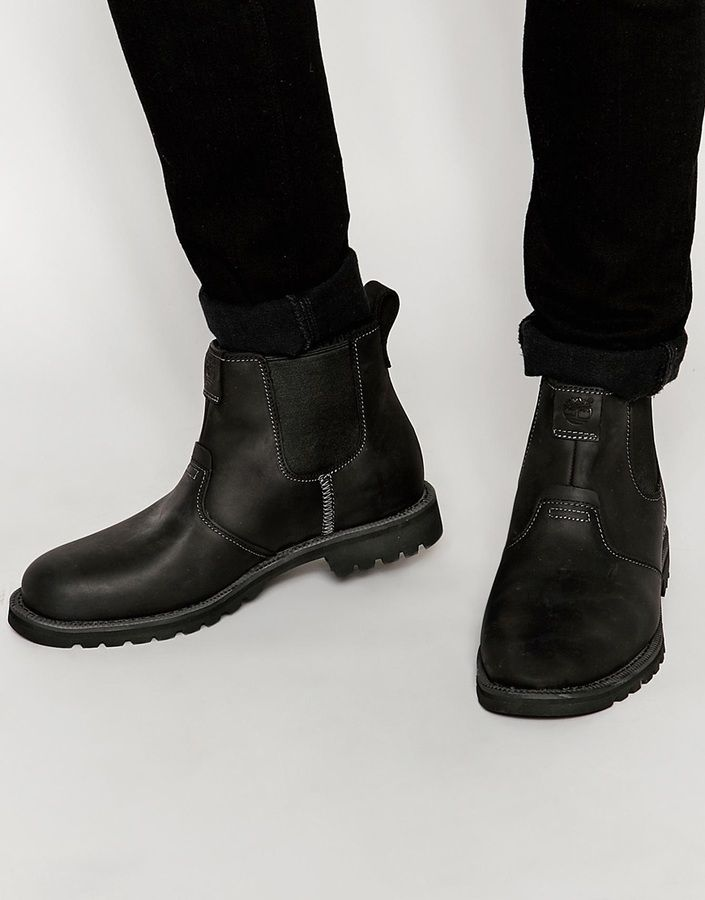$143, Timberland Grantly Chelsea Boots. Sold by Asos. Click for more info: https://lookastic.com/men/shop_items/335976/redirect
