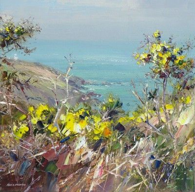 British Artist Rex PRESTON - Gorse, Portheras Cove, Cornwall