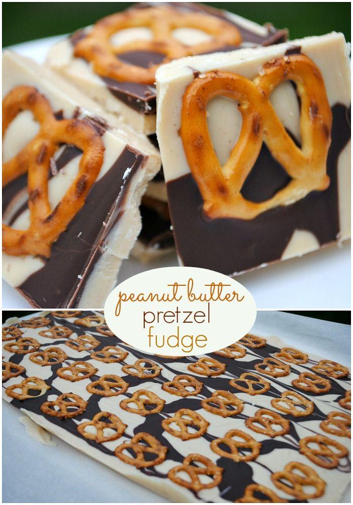 Peanut Butter Pretzel Fudge recipe...aka #copycat Tiger Butter