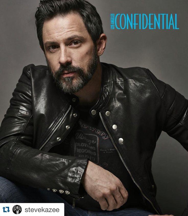 Actor Steve Kazee (Nashville, Shamless, Legends etc.) on cover of LA Confidential. Men's grooming by Mara Capozzi