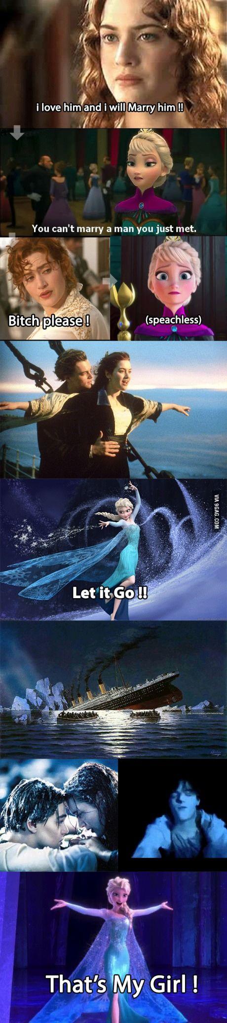 Frozen Titanic (she let him go)