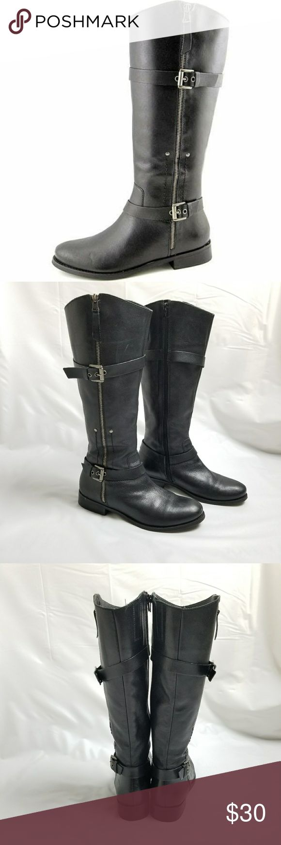 Matisse Militia Riding Boots Size 8.5M Great Condition,  normal signs of wear. Size 8.5M I would recommend them for narrow feet. Very comfortable.   Boot Height: Knee-High Boots Heel Height: Low Heel Style: Riding Boots Material: Leather Toe Shape: Round Shoe Width: Medium Matisse Shoes Combat & Moto Boots