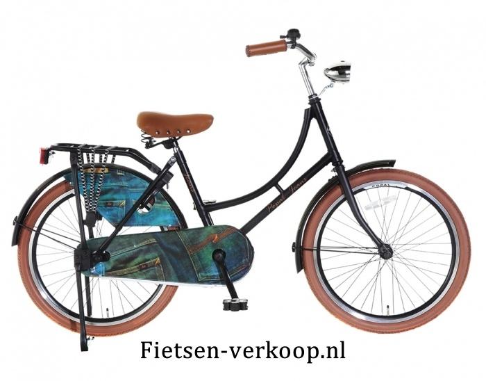 Omafiets Jeans Zwart 22 Inch | bestel gemakkelijk online op Fietsen-verkoop.nl