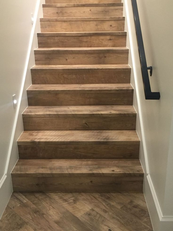 Rough Wood Stairs Floors In 2019 Basement Stairs
