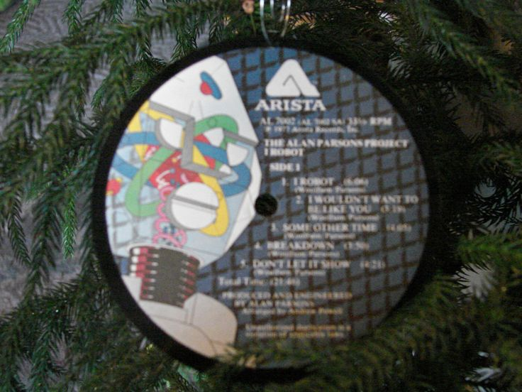 A personal favorite from my Etsy shop https://www.etsy.com/listing/167893780/alan-parsons-project-robot-ornament-33lp