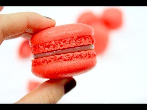 Макарон клубничный / Много нюансов и теории / Strawberry macarons - YouTube