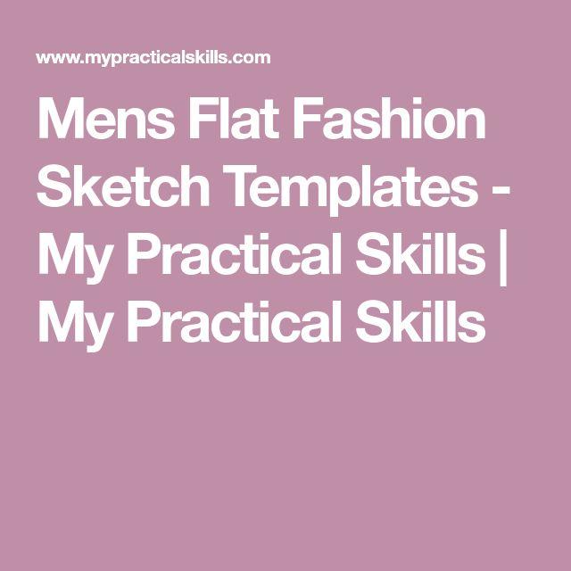 Mens Flat Fashion Sketch Templates - My Practical Skills | My Practical Skills