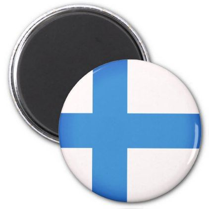 #Flag of Finland Magnet - #travel #trip #journey #tour #voyage #vacationtrip #vaction #traveling #travelling #gifts #giftideas #idea