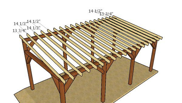 Single Car Lean To Carport Free Diy Plans Howtospecialist How To Build Step By Step Diy Plans Pergola Plans Diy Lean To Carport Hot Tub Pergola