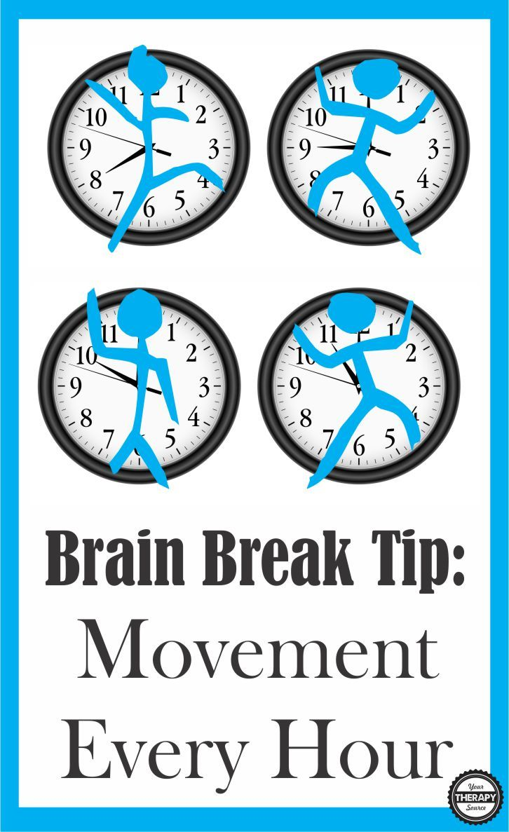 Super simple brain break tip - squeeze in a super quick movement break every hour on the hour no matter what students are doing.
