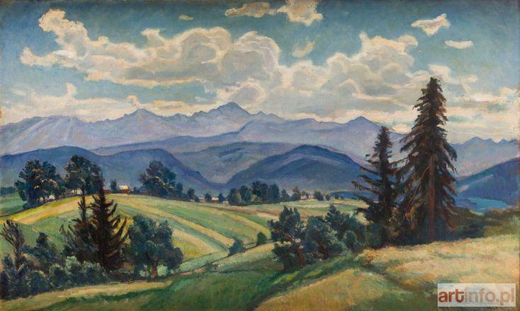 Stefan FILIPKIEWICZ ● Tatry z Olczy, 1924 r. ● Aukcja ● Artinfo.pl