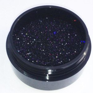 Psychedelic Rainbow- a black holographic glitter Our Glitters are top quality microfine/ultrafine cosmetic grade glitters & are perfect for face, body & nail art & are custom blended in house to insure uniqueness.