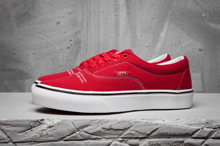 Vans Undercover Motion Song Era Classic Bright Red True White Mens Shoes #Vans