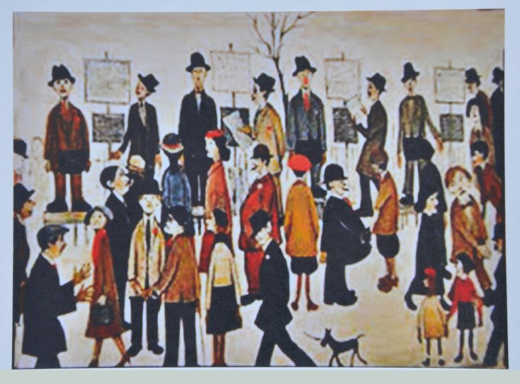 A Northern Racemeeting by L S Lowry
