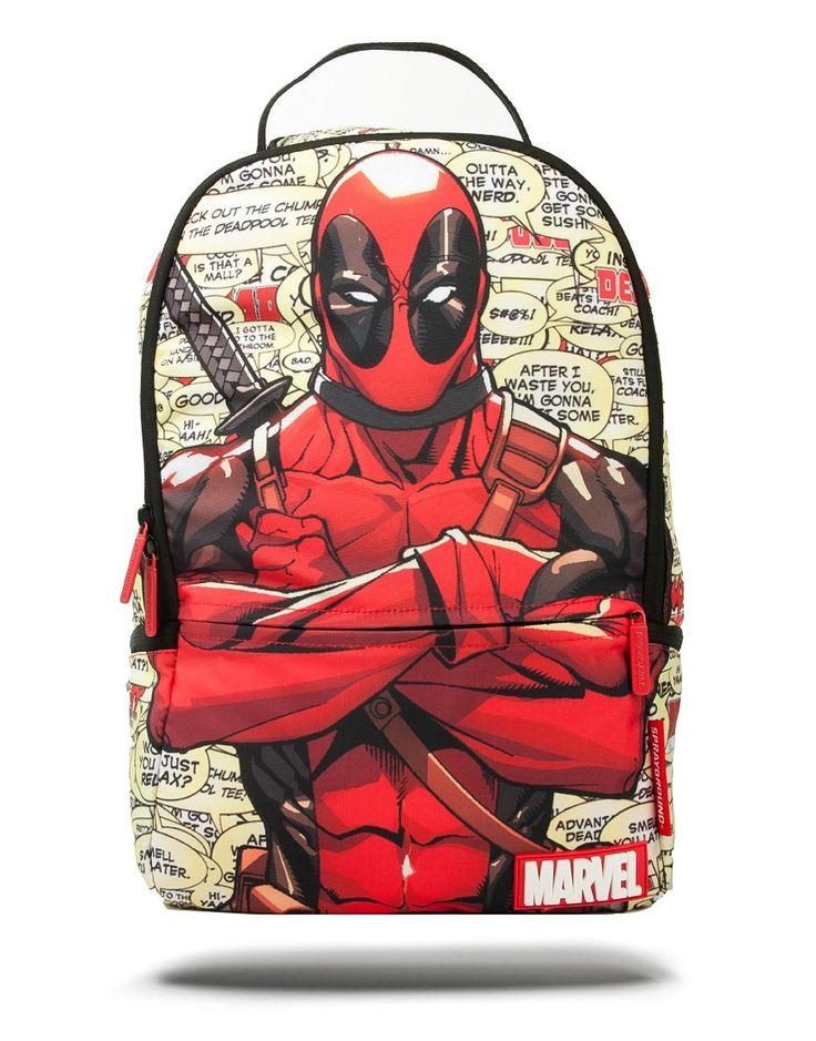 Sprayground Marvel Deadpool Blurbs Backpack Multi