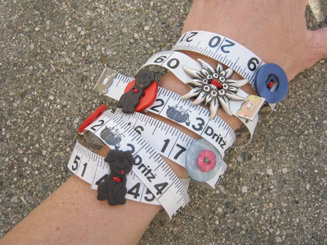 54 best jewelry making images on pinterest diy jewelry making how to make measuring tape and button bracelets solutioingenieria Choice Image