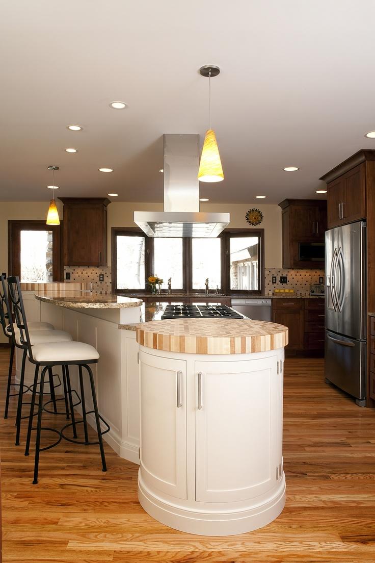 Endgrain End Island Stony Hill Kitchen Remodel