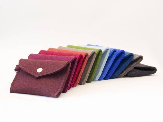 Wool felt PURSE, wallet coin purse, key holder #felt #feltaccessories