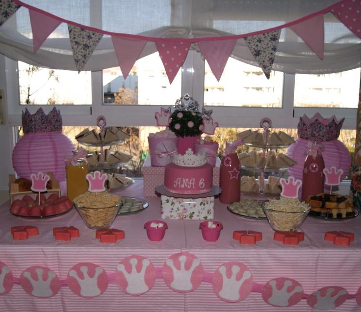 Mesa dulce para cumpleaños de princesas | Cumpleaños de princesas ...