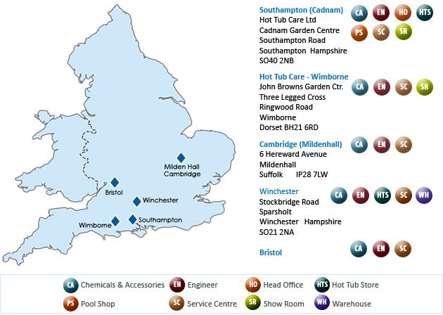 Service Area MAP | Happy Hot Tubs |