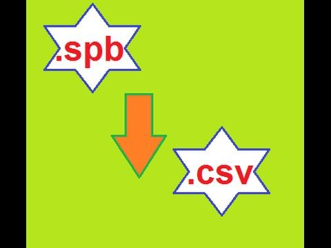 how to convert spb file extension to csv file extension