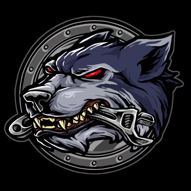 Wolf Biker Logo Design Art Wolf Design Biker Art