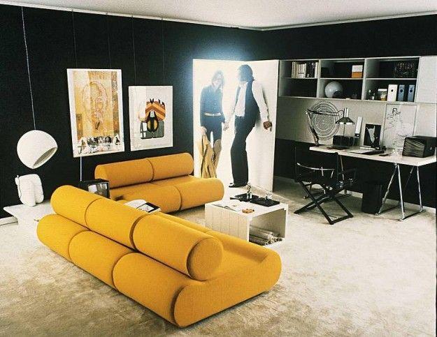 Il design degli anni Settanta - Arredamento del soggiorno delle case negli anni '70.