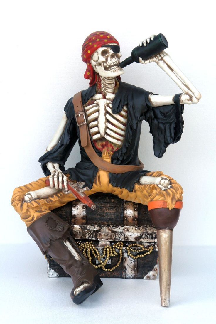 Скелет и швабра