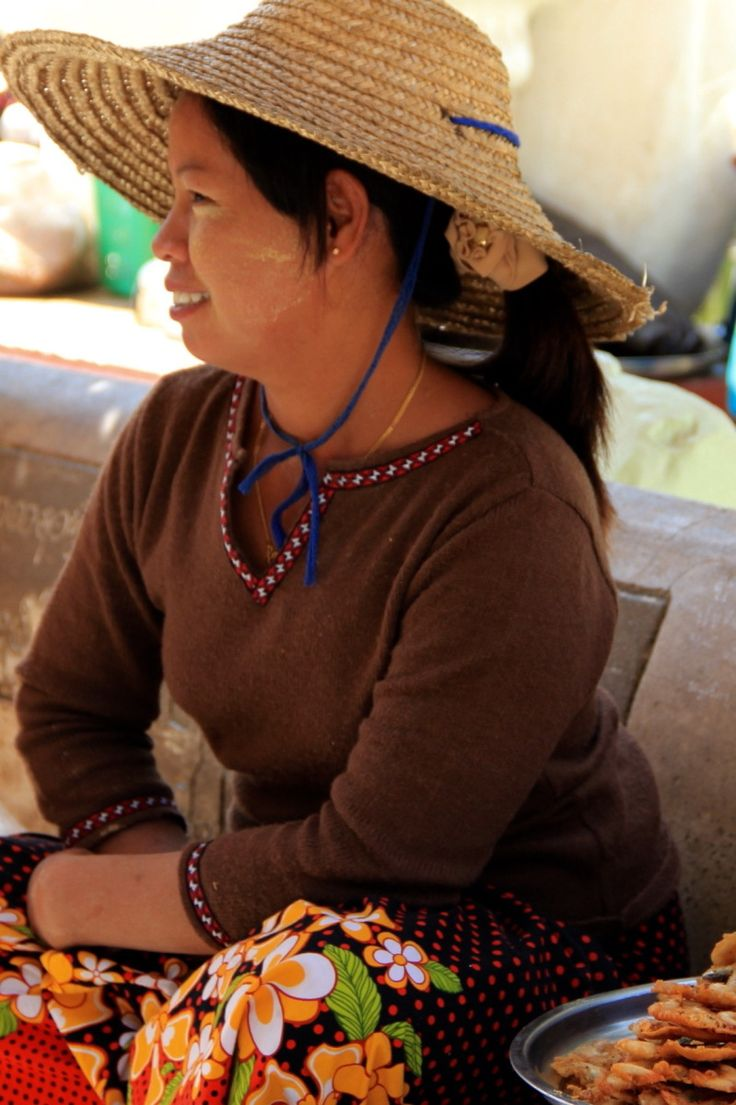 A mini-collection of photos of women in Asia to celebrate international women's day. Here - a food (read fried shrimps) seller in Bagan, Myanmar