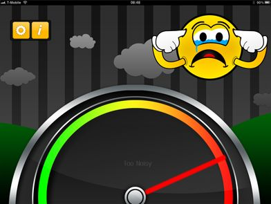A Noise Level Meter built for the Classroom.|Too Noisy- app for your iphone or ipad at school. measures the amount of noise. this is AMAZING! kids can self monitor themselves also