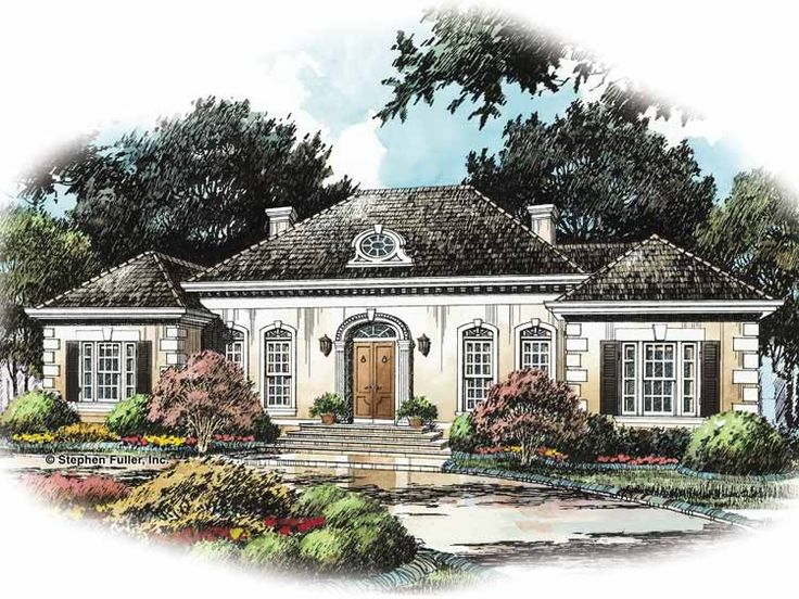 french country house plan with 2785 square feet and 4 bedroomss from dream - French Country Ranch House Plans