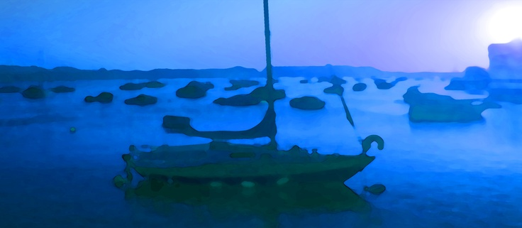An eerie blue dawn over Shaldon