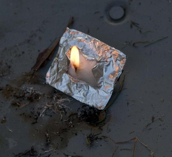 This is the quickest and best way to start a fire in adverse conditions. Take a small square of foil, a cotton ball coated with Vaseline and fold the cotton/vaseline soaked ball into the foil in a small square. When you need to start a fire, cut an X in the packet, twist out a small amount of cotton into a wick and strike a spark to it with your StrikeForce striker. Lights first time, every time. It will last up to 10-15 minutes depending on how much vaseline you put in the cotton.