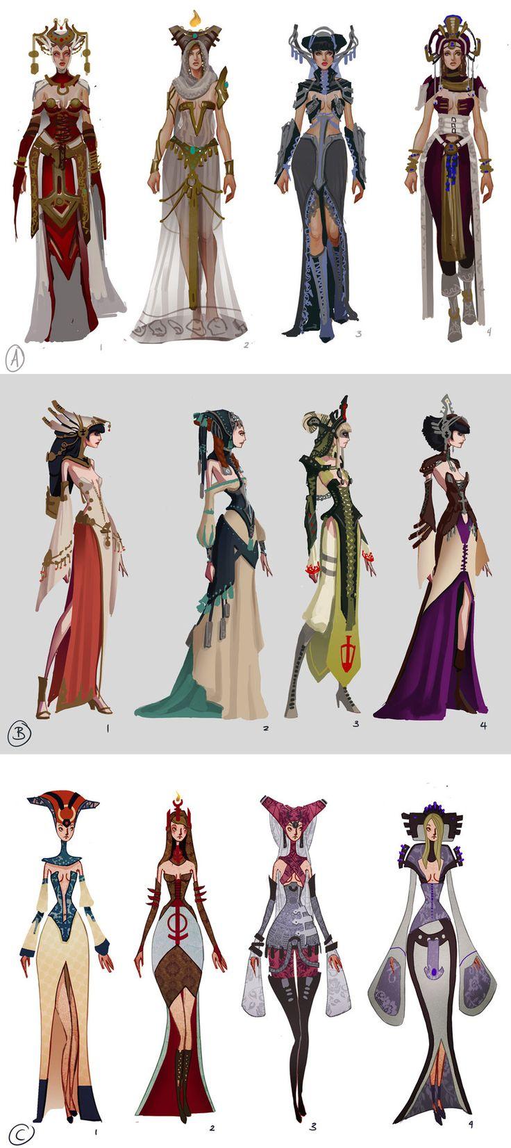 ArtStation - Alyvia - Order Priestess Exploration, Sam Hogg