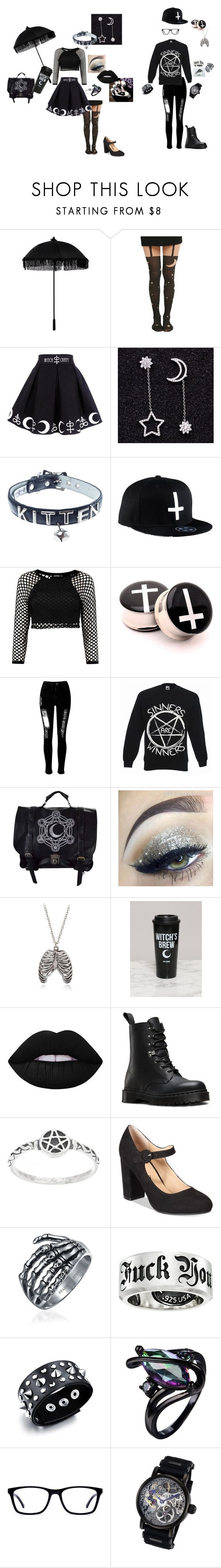 """""""#44{DDLG - Little & Daddy}"""" by demonictrinity ❤ liked on Polyvore featuring Hot Topic, Maxine, NecroLeather, WithChic, INDIE HAIR, Lime Crime, Dr. Martens, American Rag Cie, Bling Jewelry and King Baby Studio"""