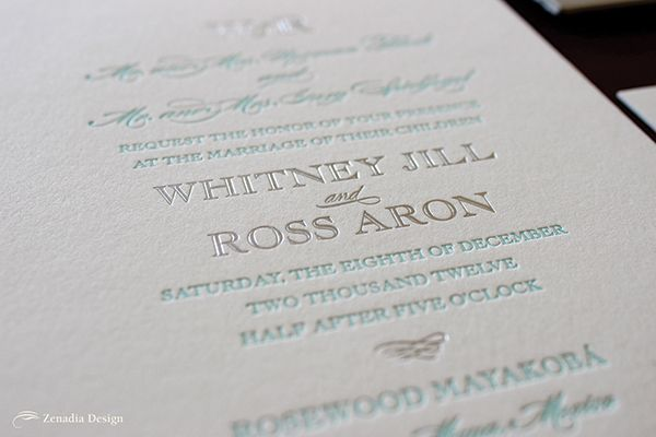When Whitney contacted me about designing her wedding invitations, I knew she was going to be a fun bride to work with. Besides being a lot of fun, she had great style and a fabulous wedding location to boot. Even though Whitney's wedding colors were muted sorbet tones, we chose to use a color scheme on the invitation that reflected...