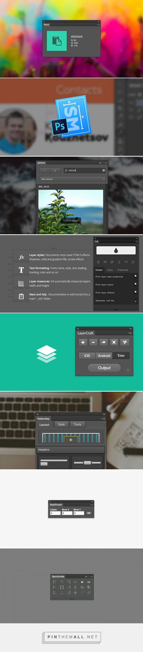 10+ Free Photoshop Plugins for Web Designers - Hongkiat - created via http://pinthemall.net