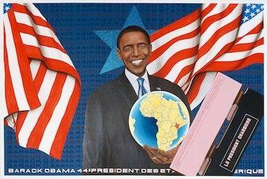 Barack Obama président charnière, 2009 - Chéri Samba