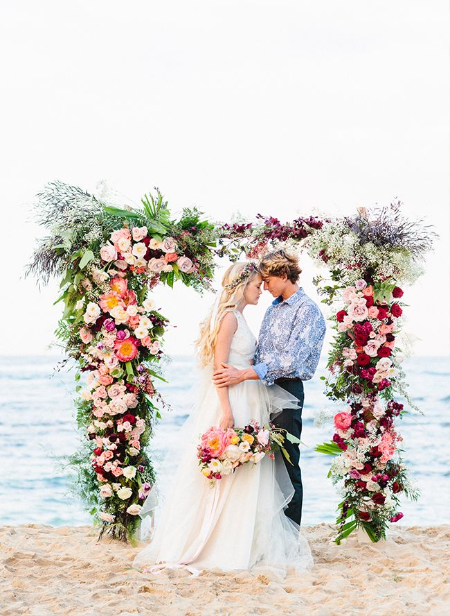 Romantic Pink Hawaii Beach Elopement | Absolutely Loved Photography http://www.absolutelyloved.com
