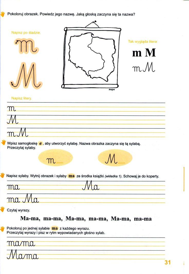 Nauka czytania i pisania metodą sylabową - karty pracy do wydruku!