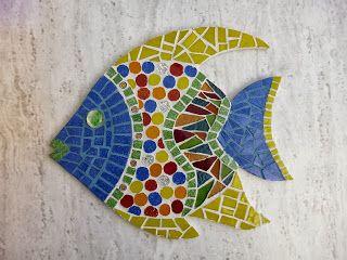 Mosaico: O determinante da minha arte.: PEIXE COLORIDO