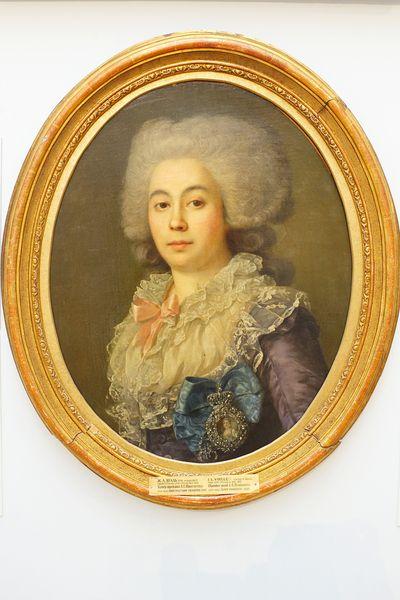 Графиня Протасова Анна Степановна (1745-1826), 1787 г., художник Ж.-Л. Вуаль, Государственный Русский музей.