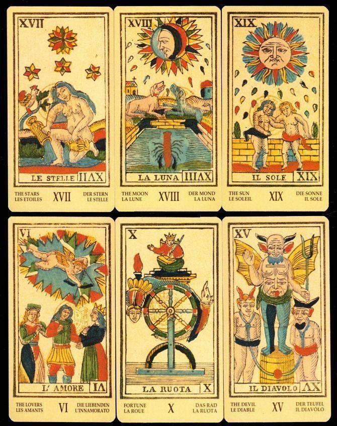 Ancient Tarot of Liguria - Piedmont Piemonteser Antike Tarots Ligurien Piemont