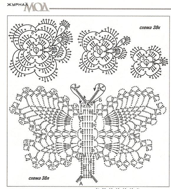 97 best Crochet Butterflies images on Pinterest