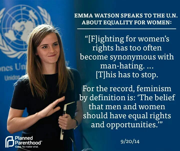 Emma is such an awesome person. We need to stop teaching that feminism is a bad thing, we are ALL equal.