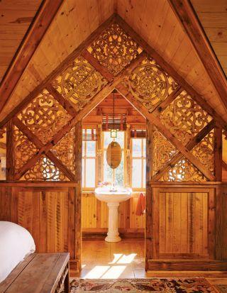 Rustic Bathroom and Bryan Anderson in Creede, Colorado