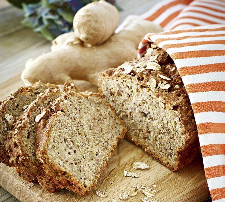 Ingefära är en fantastisk krydda även i bröd.