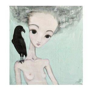 Autorský plakát od Lény Brauner Na vážkách, 56x60 cm